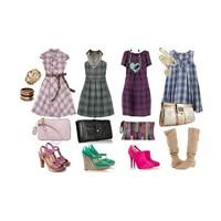 4 çeşit ekose elbise ile kombinasyon