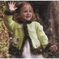 3-4 Yaş Kız Çocuk Hırkası Anlatımı