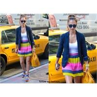 Jessica Alba'nın Renkli Kombini