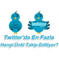 Tweetter'de En Çok Kimler Takip Ediliyor
