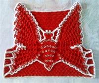 Pul İşlemeli Kelebek Modelinden Bebek Yeleği Yapım