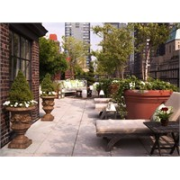 Şehir Manzaralı Bahçe Keyfi