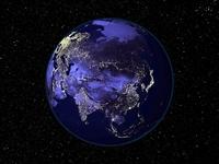 Kıtaların Gece Uzaydan Çekilmiş Fotoğrafları