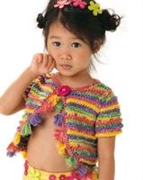 Kız Cocuklarına Renkli Bolero Modeli