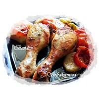 Fırında Sebzeli Tavuk Benden Sofralarınıza