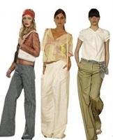 Pantalonlarda Geniş Paça Modası