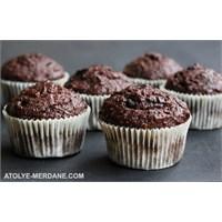 Ekstra Çikolatalı Yağsız Balkabaklı Muffinler