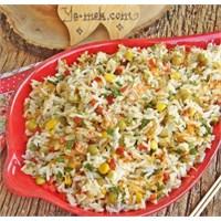 Çin Salatası (Pirinç Salatası) (Resimli)