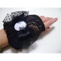 Özel Tasarım Siyah Dantel Parmaksız Eldivenler!