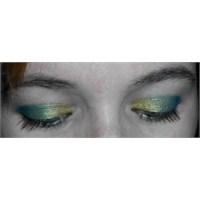 Sarı-yeşil Göz Makyajı Ve Oriflame Palladium Ruj