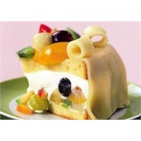 Badem Ezmeli Meyveli Pasta