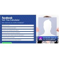 Facebook'a Ne Kadar Para Kazandırdığını Hesapla