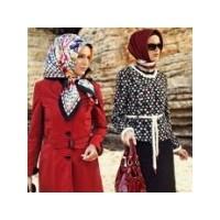 2012 Tesettür Bayan Eşarp Ve Elbise Modelleri