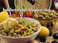 Nefis Yeşil Zeytin Salatası