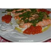 Anneminelinden Baharatlı Somon Balığı Ve Havyar
