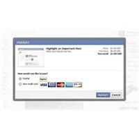 Facebook İletileri Paralı Oluyor