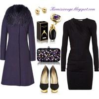 Siyah Elbiseyle Farklı Kombinler -1
