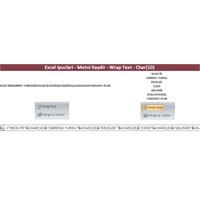 Excel İpuclari – Metni Kaydir – Wrap Text – Char