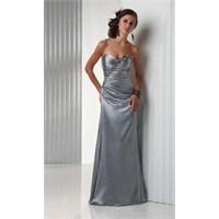 Gri Renkli Abiye Elbise Modelleri