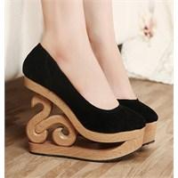 Tahta Topuklu Ayakkabılar