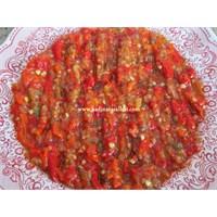 Közlenmiş Kırmızı Biber ve Patlıcan Salatası