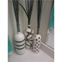 Şişelerden Dekoratif Bir Vazo Yapımı