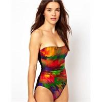 2013 Plaj Modasından Renkli Mayo Trendleri