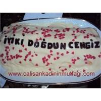 Muzlu Rulo Eşimin Doğum Günü Pastası