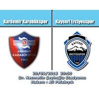 Kardemir Karabükspor – Kayseri Erciyesspor