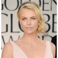 Charlize Theron Golden Globe Saç Yapımı