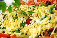 Hardal Soslu Yumurtalı Soya Filizi Salatası