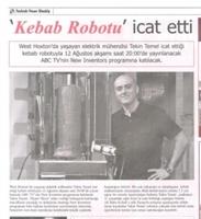 Kebap İçin Robot İcat Edildi...