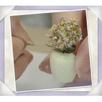 Evde Çiçek Yapımı