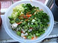 Diyet İçin Fırında Sebze Karnavalı (brokoli, Karnı
