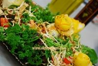 Tavuklu Soya Filizli Yeşil Salata