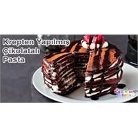 Krepten Yapılmış Çikolatalı Yaş Pasta