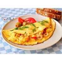 Sahurda Patatesli Omlet (Pratik Ve Şık)