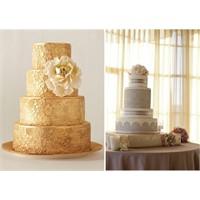 Düğün Pastasında Dantel Teması