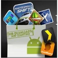 Android Market 10 Milyar Uygulama Barajı!