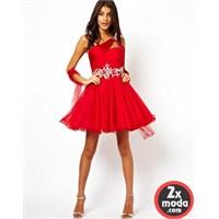 Kırmızı Renk Abiye Modelleri 2014