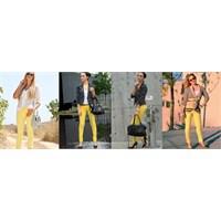 2013 Yılına Özel Sarı Renkli Pantolon Kombinleri