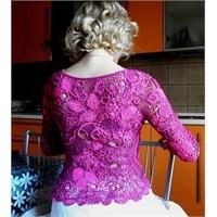 Anglez Dantel Hırka-bluz Modeli