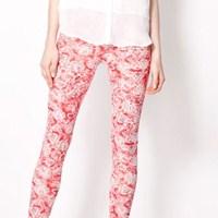 Bershka 2013 Çiçekli Pantolonları