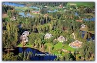 Letonya'daki Hobbit Kulübeleri