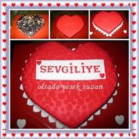 Sevgililer Gününe Özel Şeker Hamurlu Mozaik Pastam