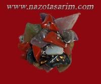 Doğal Taş Şapkalı Yüzük