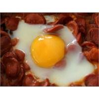 Kahvaltıda Sosisle Yumurta Keyfi