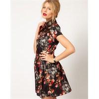 Yazlık Desenli Elbise Modelleri