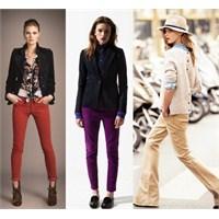 2012 Sonbahar Kış Modası: Renkli Pantolonlar