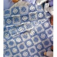 Dantel Bebek Battaniye Örneği,şemalı Anlatımı